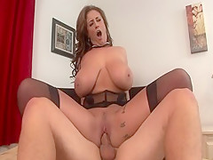 Crazy pornstar Eva Notty in amazing blowjob, tattoos sex scene