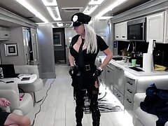 An awesome blond woman with fat boobs part1