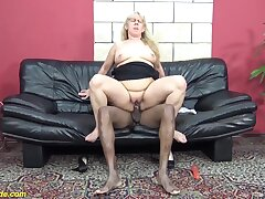 Shaved  pussy 72 era grey hideous grandma enjoys her first big black bushwa interracial porn