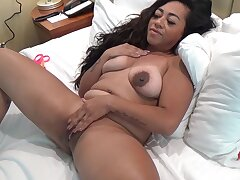 Chubby solo amateur drops say no to clothes and fingers say no to wet pussy