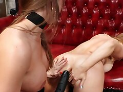 Lovely girl is anally strap-on fucked by her old hat modern
