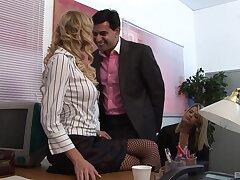 Closeup video of a dirty boss fucking his wife and secretary Antonia