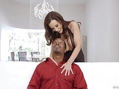 Black man fucks super hot white cougar Lisa Ann relating to anus and mouth