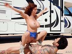 Slutty MILF Hitchhiker Best-liked Up And Fucked in RV and outdoors Alexis Fawx, Small Hands part 02