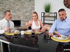 Marvellous blonde wife dazzles round scrupulous fraudulent fetish play