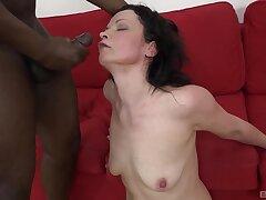 Interracial shafting with cum loving dour floozy Claudie Dark