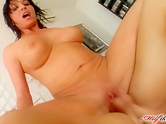 Milf Thing MILF gets cum bath after double penetration