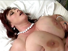 Big titted mature with big saggys had sexual congress hard