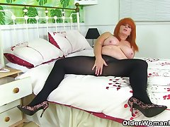 British milf Ginger Tiger toys will not hear of juicy cunt
