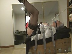Ronni in Bondage, Bagging, Nipple Torture, coupled with Sex Accounting