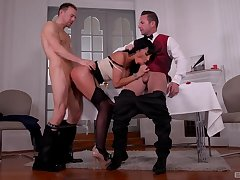 Milf treats both males with the pertinent sex