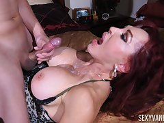 young dude gets his penis blowed by his horny milf friend Glum Vanessa