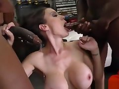 McKenzie Lee Gangbang unconnected with Black cocks