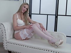 Jezebel in sexy pallid undergarments Cam Angel shows off her captivating pussy