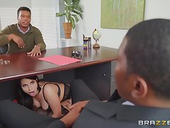 Big nuisance wife, interracial coitus on every side hubby's business partner