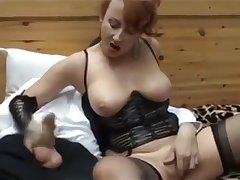 Mature mistress ass licking..