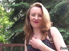 GERMAN SCOUT - SKINNY REDHEAD 18YO GIRL EMMA SODOMIZED LOVE MAKING AT CASTING