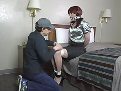 Mature cd tied with an increment of gagged