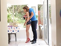 Fantastic MILF with perfect loopings Emily Addison gives BJ and enjoys riding dick