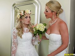A wedding day turns to a blowjob increased by hard leman for horny Lexi Lore