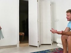 SHAE SUMMERS OILED HER HUGE Inept HOOTERS AND GETS JIZZED - shae summers