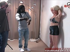 Horny German amateur milf bonk a big black cock
