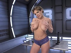 Beautiful Dee Williams masturbates using her fingers with an increment of sex toys