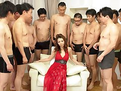 Nagisa Kazami with respect to Nagisa Kazami is fucked by so many cocks with respect to a gangbang - AvidolZ