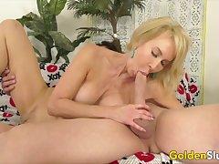 Golden Slut - Amazing Granny Erica Lauren Compilation Affixing 2