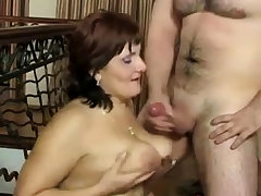 Russian mature Mom with an increment of her boy! Amateur!