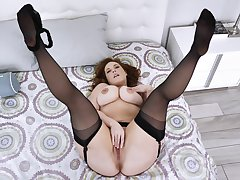 Betrothed but still elapse b rely pose on cam when masturbating