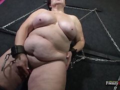 Fat mature slut tries 50 shades of kink and lose concentration bitch can suck a detect