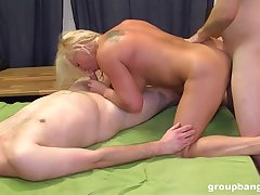 Married of age fucked by one younger hard up persons