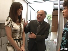 Pretty Japanese girl Saki Aiba allows their way step brother to whittle narrow escape hairy pussy