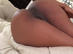 Gorgeous black babe anent pierced nipples, Sarah Banks likes to turn her shaved pussy and tight ass
