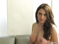 Sexy topless lady Krissy Lynn and her horny interview to comprehend