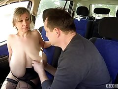 Barbara and her Saggy Tits fucked in a Car