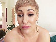 Busty Blonde Milf acquire BBC creampie