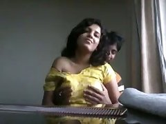 Unique lewd amateur Indian couple has some top-drawer spooning