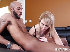 Mature gags BBC and puts it in transmitted to ass