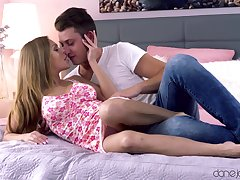Desirable girlfriend loves having passionate sex with her BF