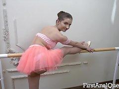 Dropped Ballerina Taylor Krystal Loses Ass Roger Virginity