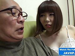 Japanese MILF Feeling Horny Be fitting of Grandpa