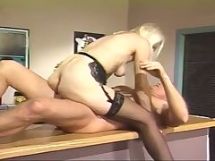 An older bird is busy firm connected with satisfy her lover's sexual needs