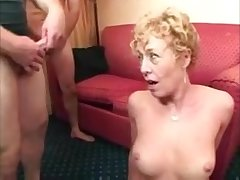 Hot light-complexioned mature lady getting various facials alien different dicks