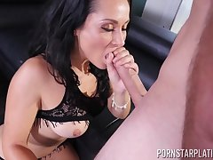 Great blowjob by sex-appeal girl Crystal Rush