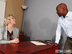 Black man shows this mature woman the right orgasms