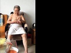 Asian 80+ Granny Be verified bath