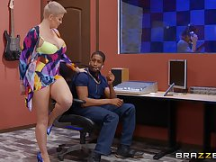Mature with huge tits, rough BBC pussy action at the studio