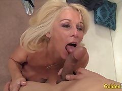 Golden Slut - Incredible Matures Worship Big Cocks Compilation